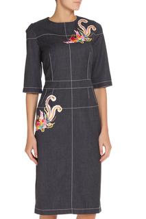 Платье с аппликацией NATALIA PICARIELLO