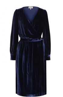 Бархатное платье-миди и с запахом Paul&Joe Paul&Joe