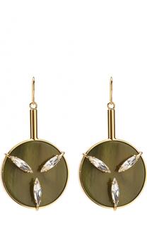 Серьги с декором из кристаллов Marni