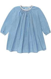 Хлопковое мини-платье свободного кроя Chloé