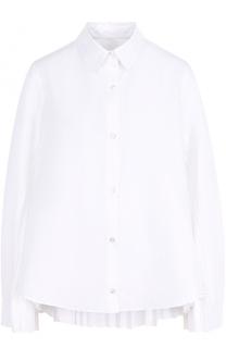 Хлопковая блуза с плиссированными вставками Clu