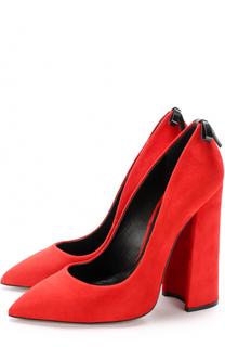 Замшевые туфли Monroe на устойчивом каблуке Aleksandersiradekian