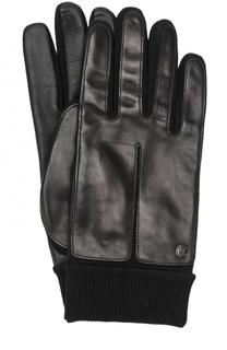 Кожаные перчатки с манжетами Roeckl