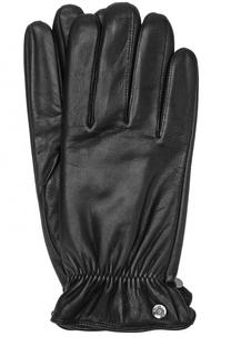 Кожаные перчатки с манжетами на резинке Roeckl