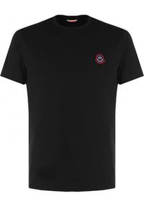 Хлопковая футболка с круглым вырезом Moncler