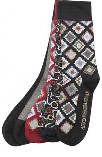 Шелковые носки с принтом Aleksandersiradekian