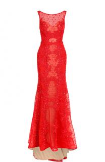 Приталенное платье-макси с подолом Basix Black Label