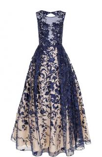 Приталенное платье-макси с открытой спиной Basix Black Label