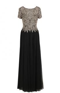 Приталенное платье-макси с декорированным лифом Basix Black Label