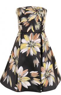 Приталенное платье-бюстье с цветочным принтом Basix Black Label