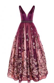 Приталенное платье-макси с декорированной юбкой Basix Black Label