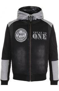 Джинсовая куртка на молнии с капюшоном Philipp Plein