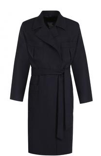 Пальто из смеси шерсти и кашемира с поясом Caruso