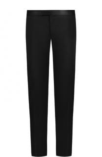 Шерстяные брюки прямого кроя с шелковой отделкой Pal Zileri