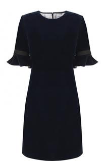 Бархатное мини-платье с коротким рукавом Sonia Rykiel