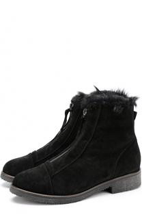 Замшевые ботинки с внутренней отделкой из овчины Baldan