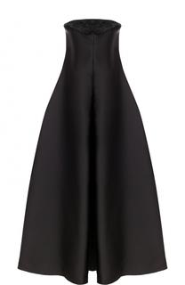 Приталенное платье-бюстье с декоративной отделкой Armani Collezioni