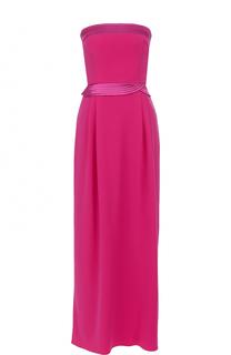 Платье-бюстье с драпировкой Armani Collezioni