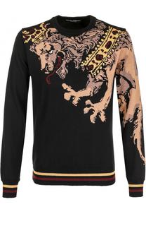 Джемпер из смеси шерсти и кашемира с принтом Dolce & Gabbana