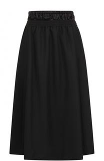 Шерстяная юбка-миди с эластичным поясом Acne Studios