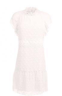 Мини-платье свободного кроя с воротником-стойкой See by Chloé