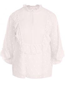 Блуза с укороченным рукавом и воротником-стойкой See by Chloé