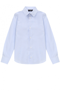 Хлопковая рубашка в клетку прямого кроя Dal Lago