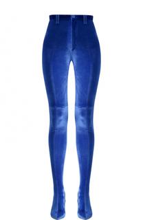 Бархатные брюки-скинни на шпильках Balenciaga