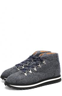 Текстильные ботинки на шнуровке Doucals