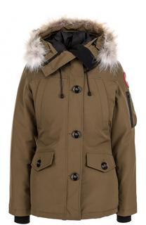Утепленная куртка Montebello с капюшоном и меховой отделкой Canada Goose