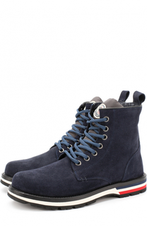 Высокие замшевые ботинки на шнуровке Moncler
