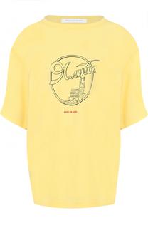 Хлопковая футболка свободного кроя Walk of Shame