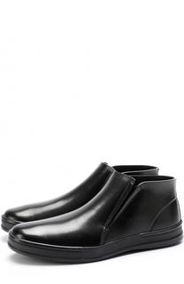 Кожаные ботинки без шнуровки с внутренней меховой отделкой Aldo Brue
