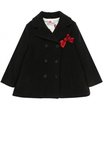 Укороченное двубортное пальто с бантом Dolce & Gabbana