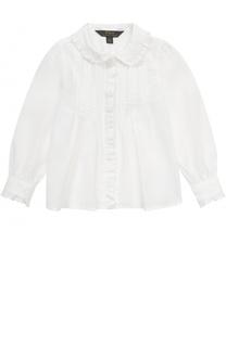 Хлопковая блуза с оборками Polo Ralph Lauren