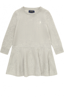 Мини-платье тонкой вязки с логотипом бренда Polo Ralph Lauren