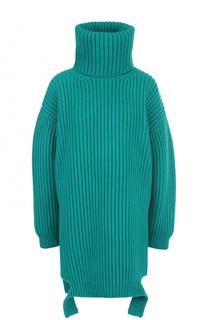 Удлиненный свитер фактурной вязки Balenciaga