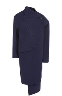 Шерстяное пальто асимметричного кроя Balenciaga
