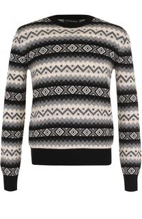 Кашемировый свитер с узором Alexander McQueen