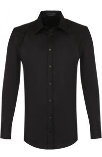 Хлопковая рубашка с декоративной отделкой Alexander McQueen