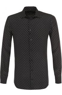 Шелковая сорочка с принтом Alexander McQueen