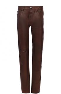 Кожаные брюки прямого кроя Calvin Klein Underwear