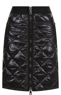 Стеганая пуховая мини-юбка Moncler