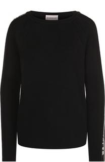 Шерстяной пуловер с круглым вырезом Moncler
