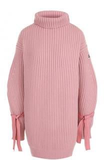 Удлиненный свитер из смеси шерсти и кашемира Moncler