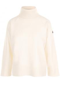 Шерстяной свитер с высоким воротником Moncler