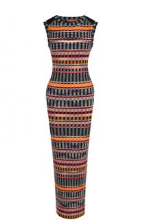 Шерстяное платье-футляр без рукавов Missoni