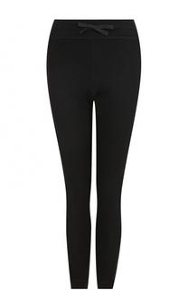 Шерстяные брюки с логотипом бренда Moncler