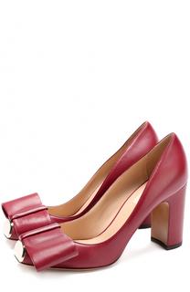 Кожаные туфли Bowow с бантом и металлической отделкой Valentino
