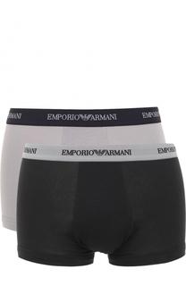 Комплект из двух хлопковых боксеров с эластичной резинкой Emporio Armani